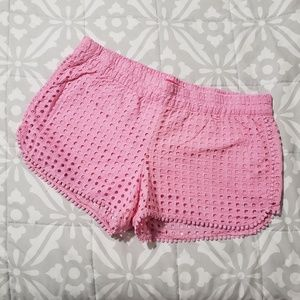 Lilly Pulitzer Pink Lace Shorts